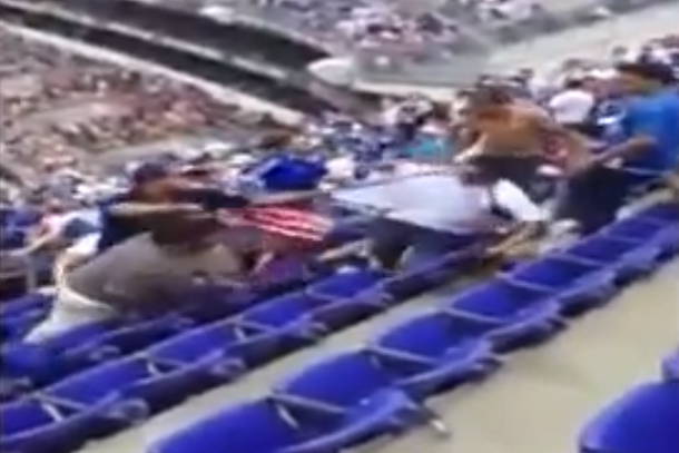 fan brawl at gold cup match