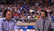 There Was a Really Lame Fan Fight Behind the ESPN Desk at the Home Run Derby Last Night (Video)