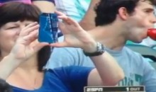 Was This Gentleman at the MLB Futures Game Performing Fellatio on His Beer Bottle? (Video + GIF)