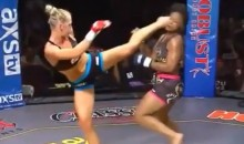 Watch Boxer-Turned-MMA Fighter Holly Holm Knock Her Opponent Out with a Kick to the Head (Video)