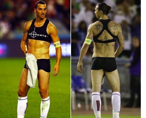 ibrahimovic wearing sports bra