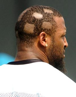 jamar enzor (jaguars 2005) - nfl training camp hazing hairdos