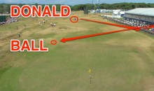 Luke Donald Gets the Luckiest Bounce You'll Ever See at the 2013 British Open