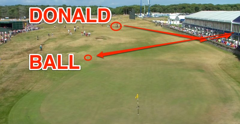 luke donald bank shot british open
