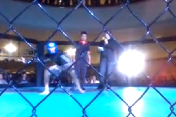 mma fighter knocked out after taunting opponent