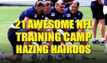 21 Awesome NFL Training Camp Hazing Hairdos