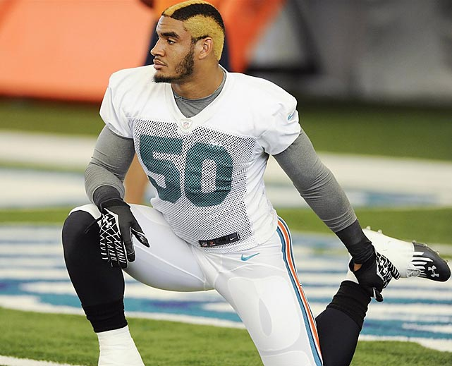olivier vernon (dolphins 2012) - nfl training camp hazing hairdos