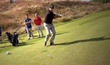 European Tour Golfers Try Out the Happy Gilmore Running Swing (Video)