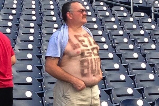 pittsburgh fan shaves lets go bucs into his chest hair