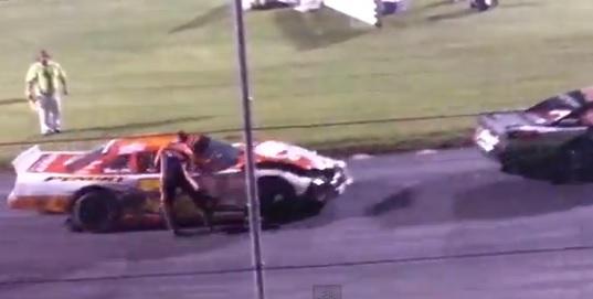 race car driver dragged