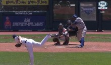 Rajai Davis Gives Us the Worst Swinging Strike of the Year (Video)