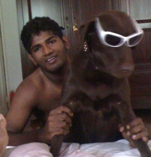 ramith rambukwella partying with dog