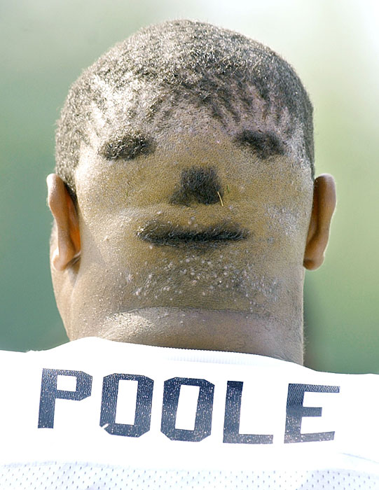 reggie poole (dolphins 2003) - nfl training camp hazing hairdos