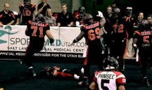 Arena Football Player Scores Touchdown, Celebrates By Getting Hit With 'Rock Bottom' (Video)