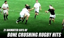 31 Animated GIFs of Bone Crushing Rugby Hits