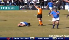 South African High School Rugby Player Suffers Nasty Broken Leg (Video)