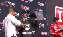 IndyCar Racer Sebastien Bourdais Demonstrates Why You Don't Make Sports Trophies Out of Delicate Crystal (Video)