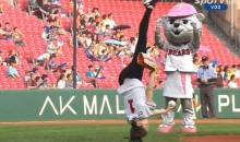 This Might Be the Most Acrobatic Ceremonial First Pitch Ever (Video)