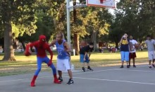 Streetballer Puts on Spider-Man Suit and Shows Off His Skills (Video)