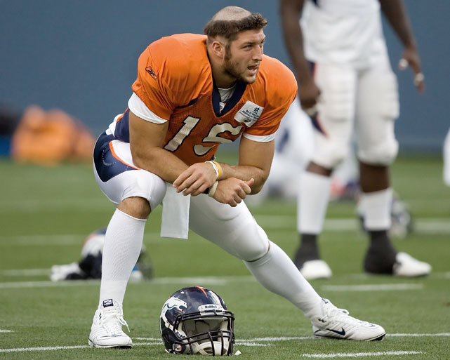 tim tebow (broncos 2010) - nfl training camp hazing hairdos