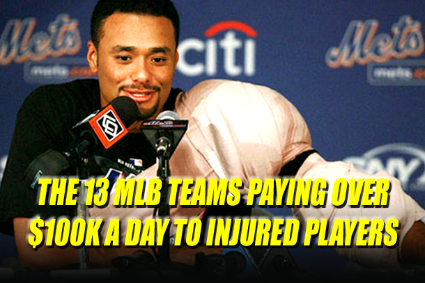 what MLB teams are paying for injured players