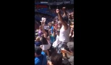 Yankees Fan Struts His Stuff With the Blue Jays Cheerleaders (Video)