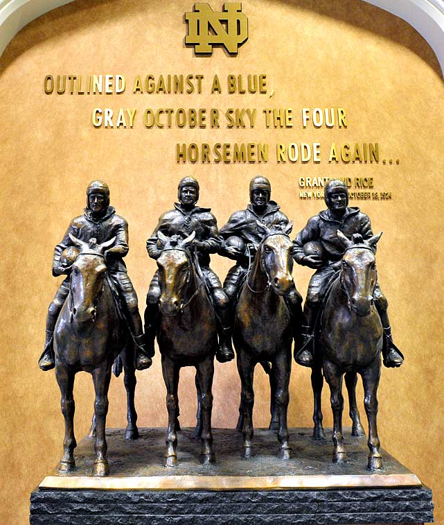 1 the four horsemen - college football legends with their own statues