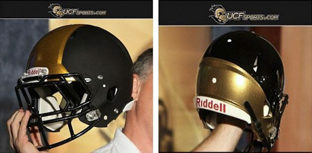 10 new central florida knights football helmets - 2013 college football helmets