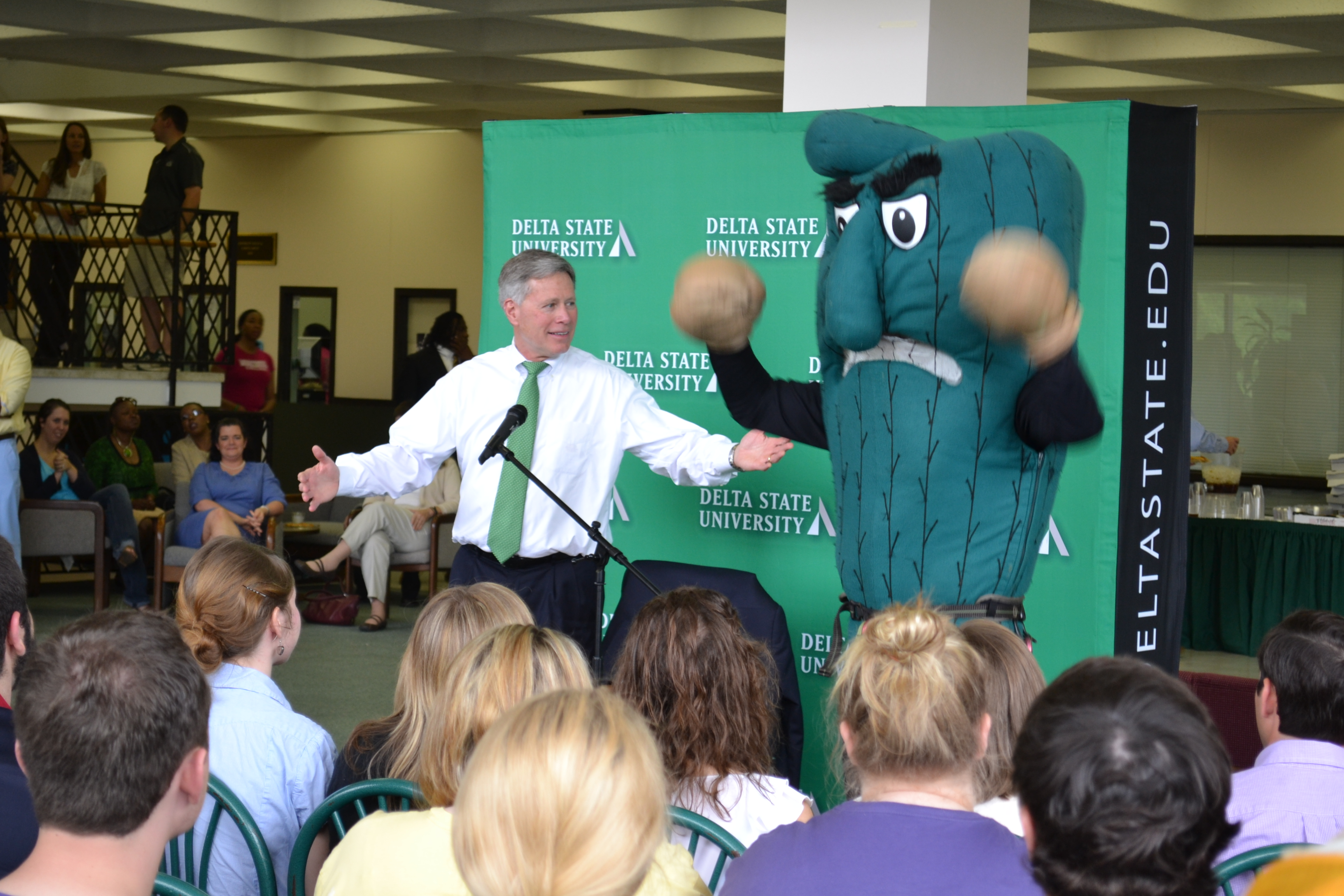 11 delta state fighting okra (division ii) - creepiest college football mascots