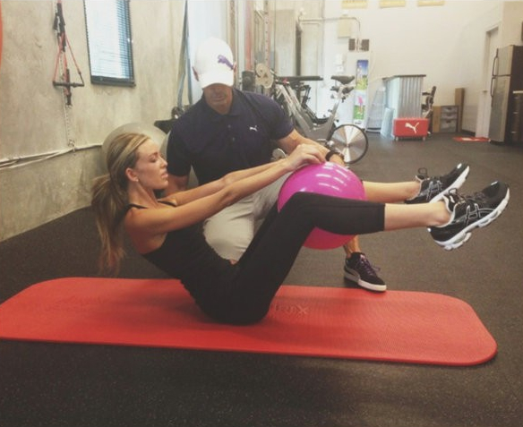 11 paulina gretzky working out