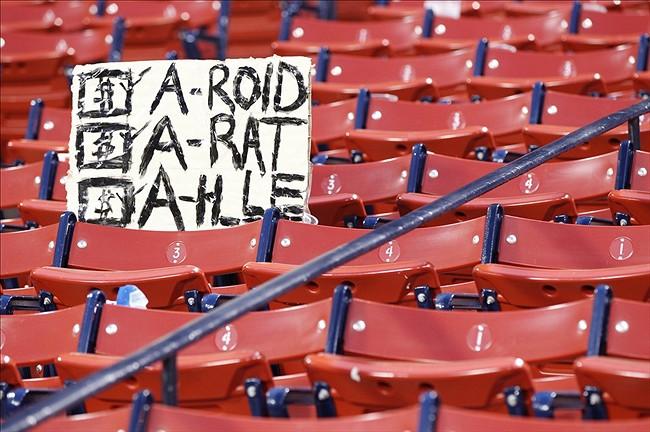 12 a-rat - a-rod fan signs