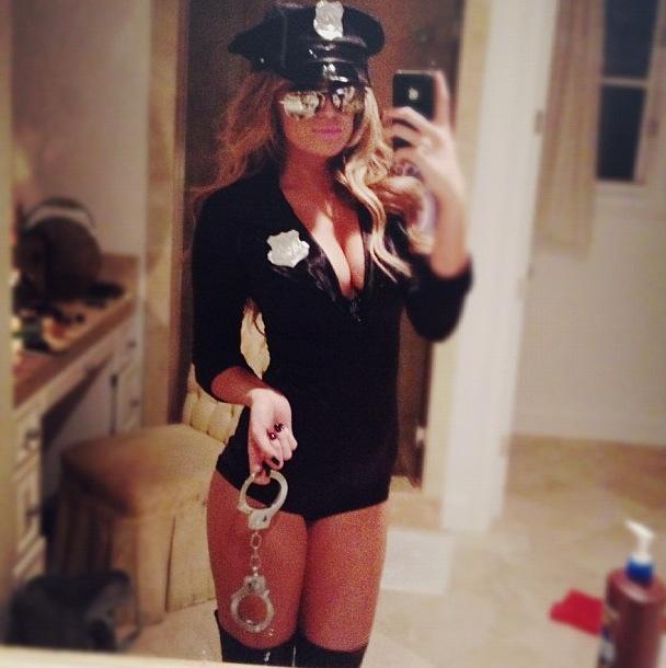 12 paulina gretzky halloween costume (sexy cop)