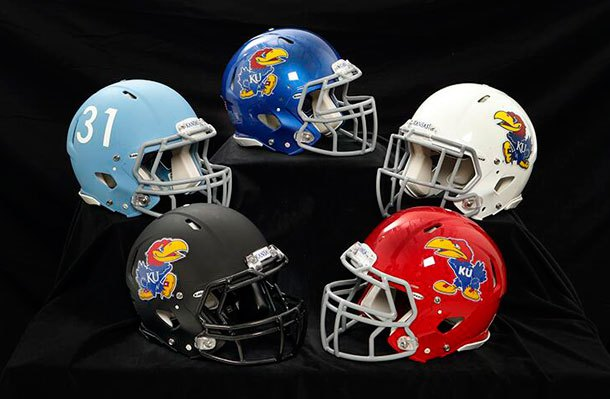 17 new kansas football helmets - 2013 college football helmets