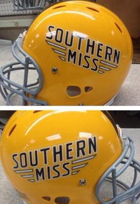 18 new southern miss football helmets - 2013 college football helmets