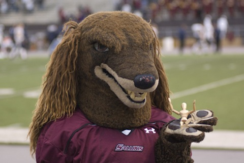 2 southern illinois saluki mascot - creepiest college football mascots