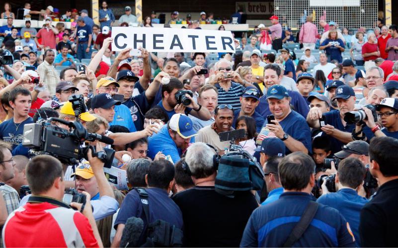 20 cheater - a-rod fan signs