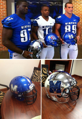 20 new memphis tigers chrome football helmets - 2013 college football helmets