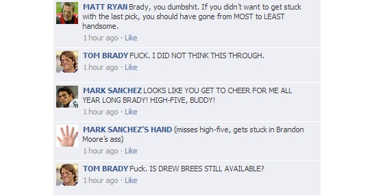 2013 NFL QB Facebook Convo Preseason Week 2