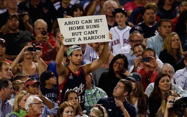 3  hat guy can't get a hardon - a-rod fan signs