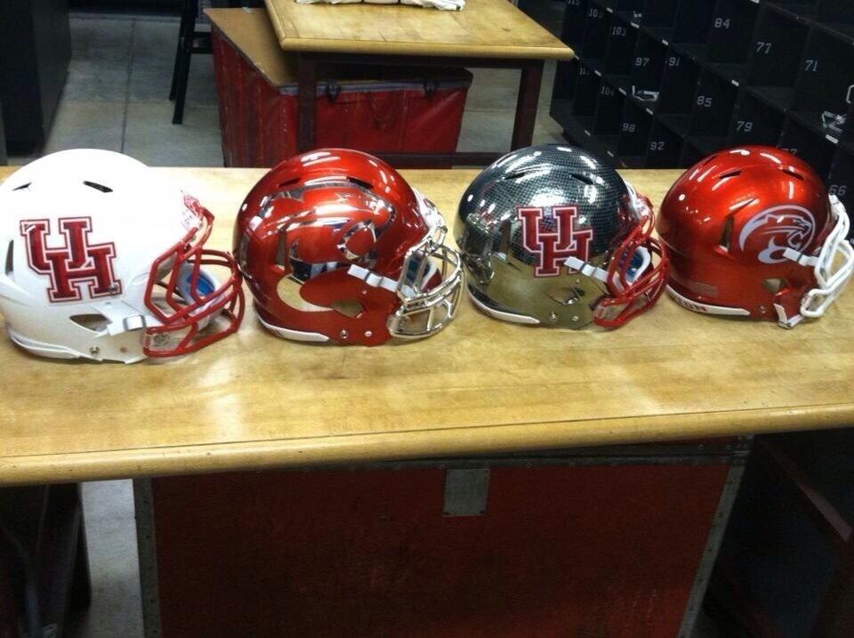 5 new houston cougars football helmets - 2013 college football helmets