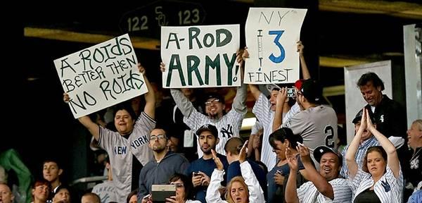6 a-rod army- a-rod fan signs