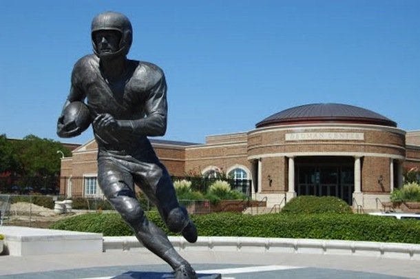 8 doak walker statue - college football legends with their own statues