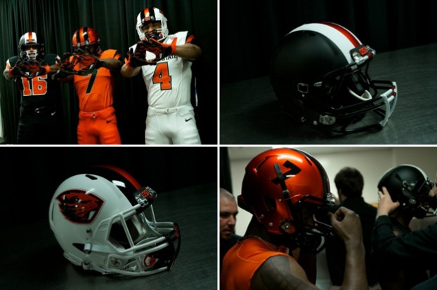 8 new oregon state beavers helmets and uniforms - 2013 college football helmets