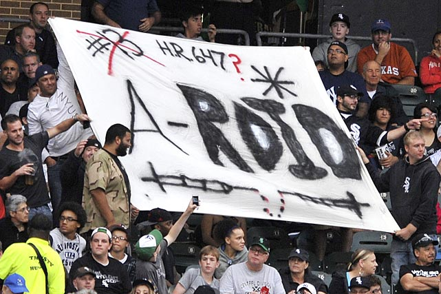 9 chicago a-roid sign - a-rod fan signs