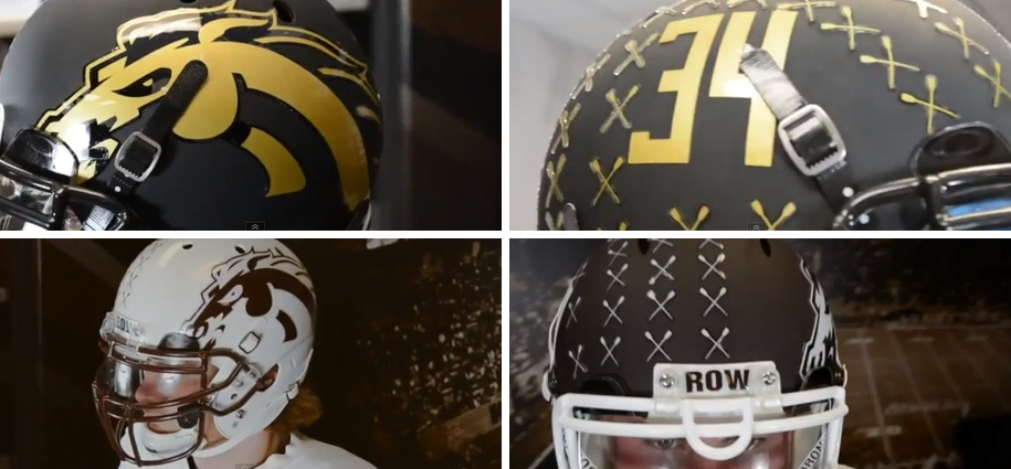 9 new western michigan football helmets - 2013 college football helmets