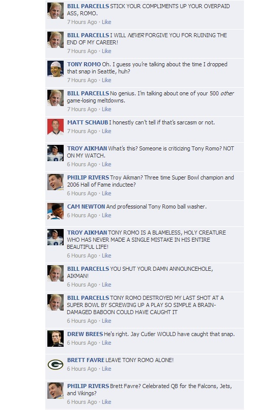 NFL QB Convos on Facebook - HOF Game 2