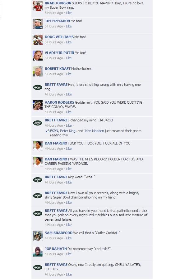 NFL QB Convos on Facebook - HOF Game 4