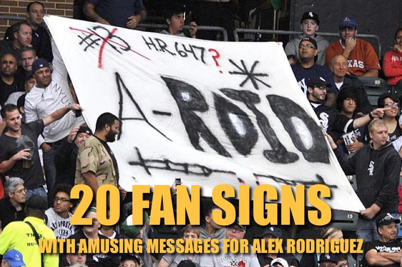 a-rod fan signs