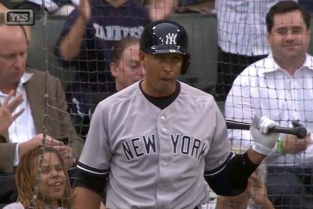 alex rodriguez booed during first at bat