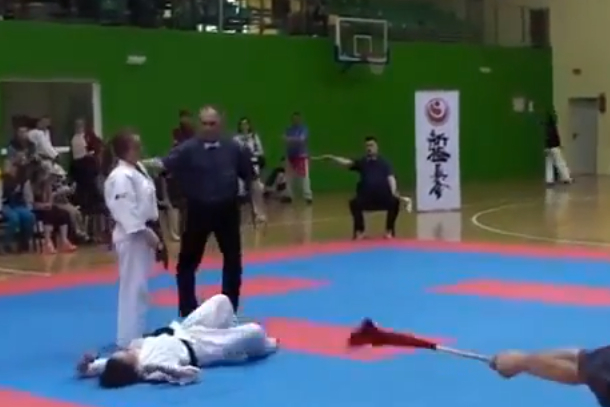 awsome girls karate knockout